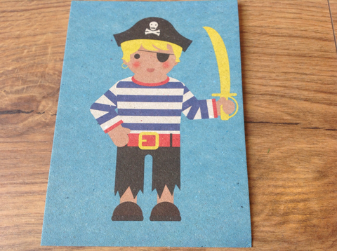 Postkarte Pirate the good life - Polly Paper