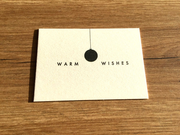 Mini-Karte Warm Wishes (ahoi)