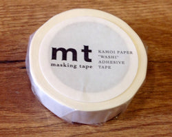 mt washi tape matte white - Polly Paper