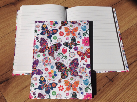 Hardcover A5 liniert Butterfly - Polly Paper