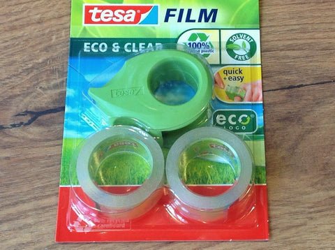 Tesa-Set Abroller + 2 Rollen Eco clear - Polly Paper