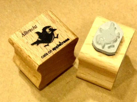 Mini-Stempel Meise Albrecht (Cats on appletrees)