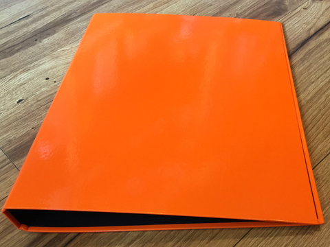 Ringbuch A4 2R Brunnen orange - Polly Paper