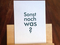 "Postkarte ""Sonst noch was?"" (gute&böse) - Polly Paper"