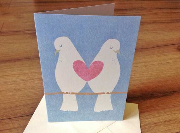 Klappkarte Mozaiq Love Birds - Polly Paper