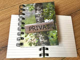 "Hardcover Spiralbuch ""privat"" mini (8x12,5)"