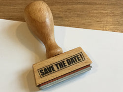 "Textstempel ""Save the date"""