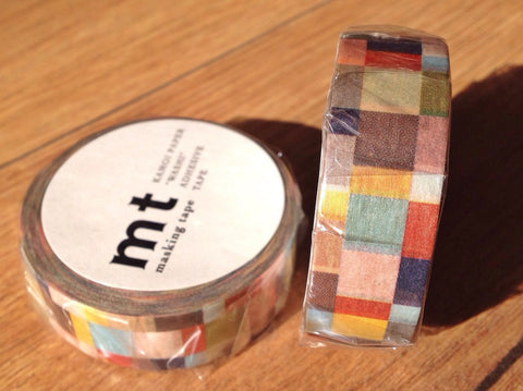 mt washi tape mosaic greyish - Polly Paper
