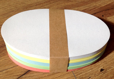 Moderationspapier oval 250Bl 5Farb 11x19 - Polly Paper