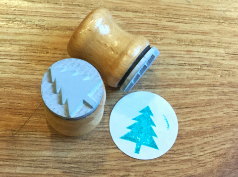 Ministempel Bordschätze Tanne - Polly Paper