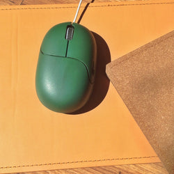 Mousepad Recycling-Leder natur - Polly Paper