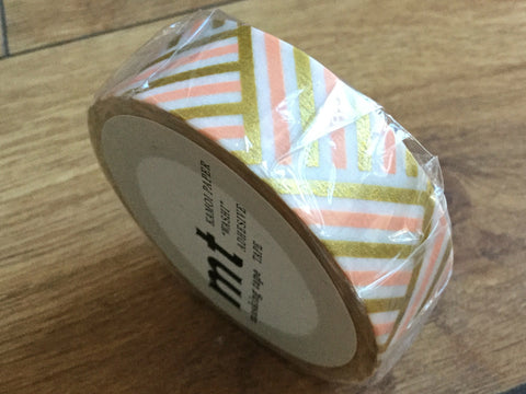 mt washi tape corner peach