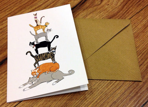 Klappkarte Cat Stack (Swindells) - Polly Paper