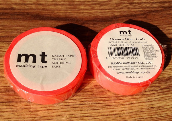 mt tape shocking red - Polly Paper
