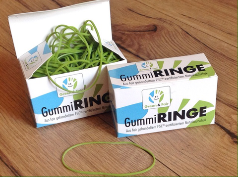 Gummiringe Green Tips FSC 50g° - Polly Paper