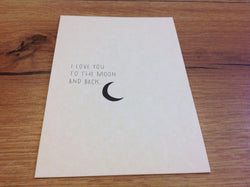 Postkarte ahoi moon and back - Polly Paper