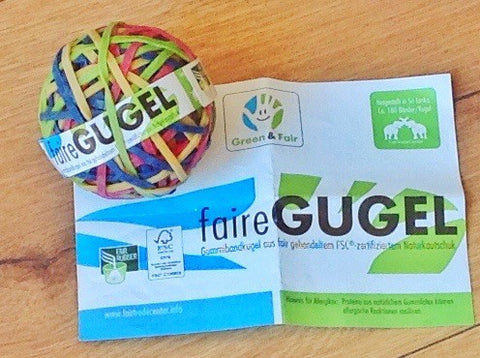 "Gummiringe-Ball FSC ""Faire Gugel"" - Polly Paper"