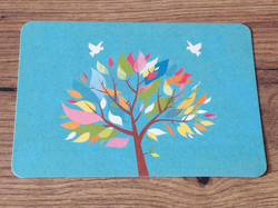 Postkarte Bunter Baum (Gutrath) - Polly Paper