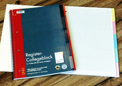 Collegeblock Register kariert 5x16Bl UNI - Polly Paper