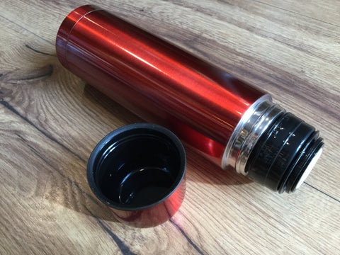 Thermoskanne Isolierflasche 05l Rot Polly Paper