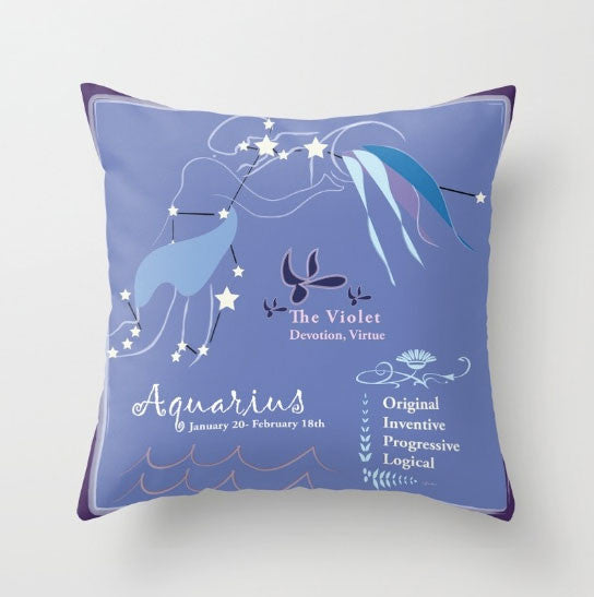 February Aquarius Pillows - Tint Press