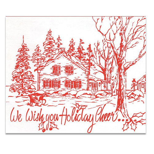 We Wish You Holiday Cheer - Tint Press