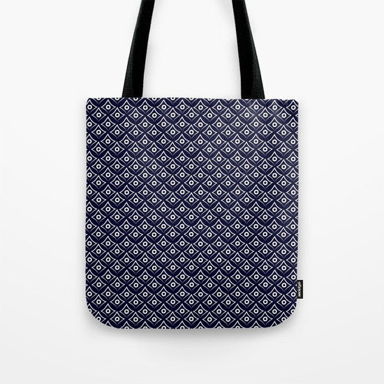 Blue Fish Eye Tote Bag - Tint Press