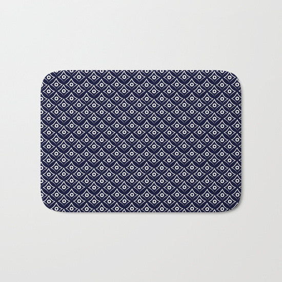 Blue Fish Eye Bath Mat - Tint Press