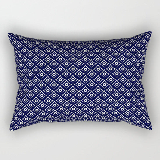 Blue Fish Eye Rectangular Pillow - Tint Press