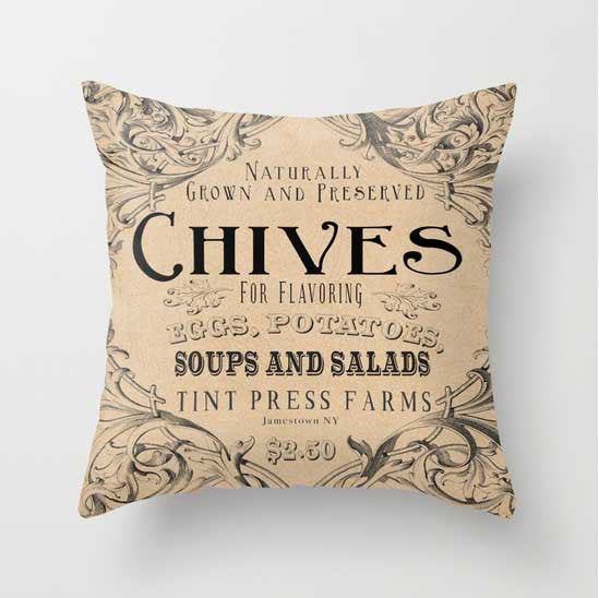 Chives Pillow - Tint Press