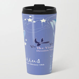 February Aquarius Metal Travel Mug - Tint Press