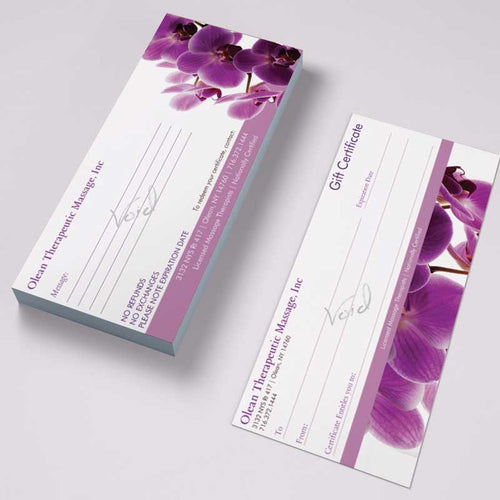 Gift Certificates- Olean Spa - Tint Press