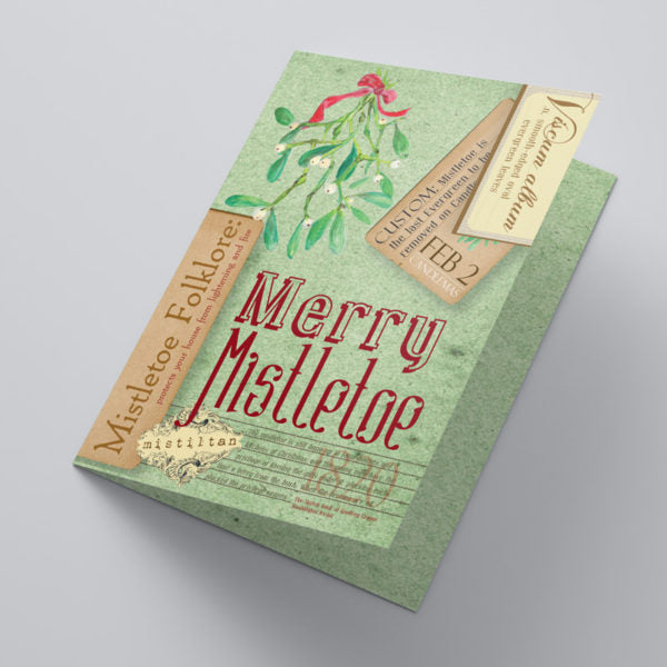 Merry Mistletoe Christmas Cards - Tint Press