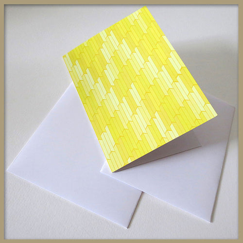 Yellow Honeycomb Stationery Card - Tint Press