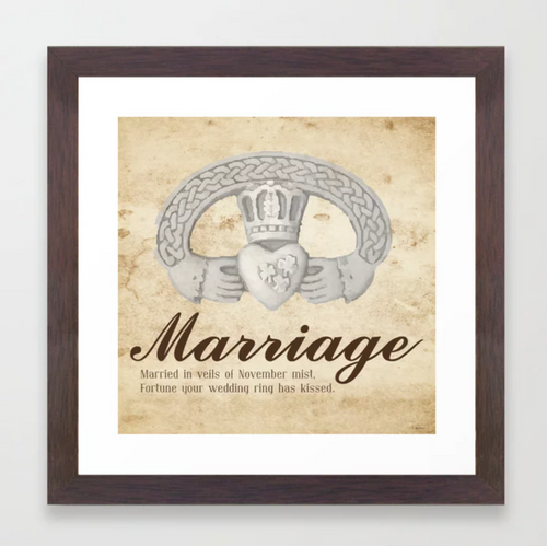 November Marriage Art Print