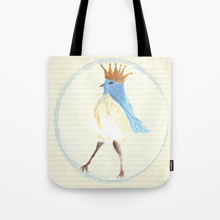 Queen of the Bluebird Tote Bag
