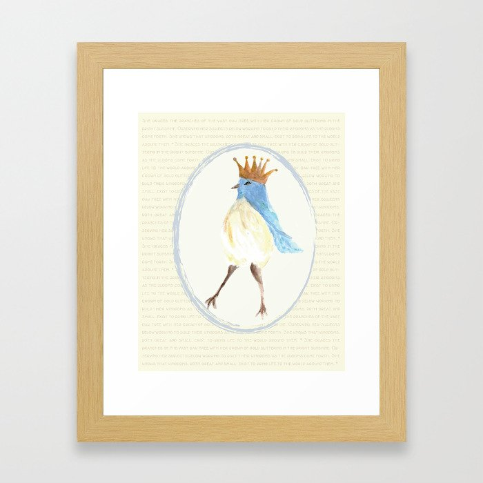 Queen of the Bluebird Print