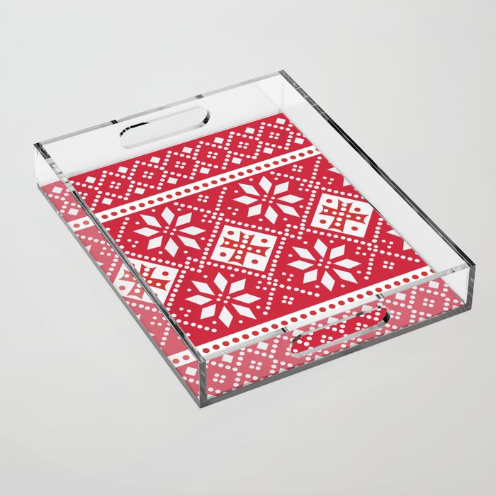 Scandinavian Holiday Acrylic Tray