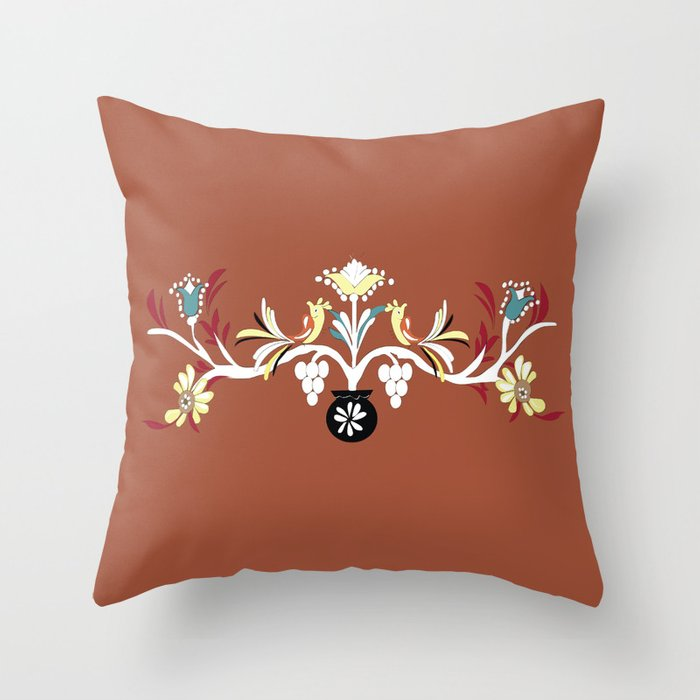 Red Design Throw Pillows
