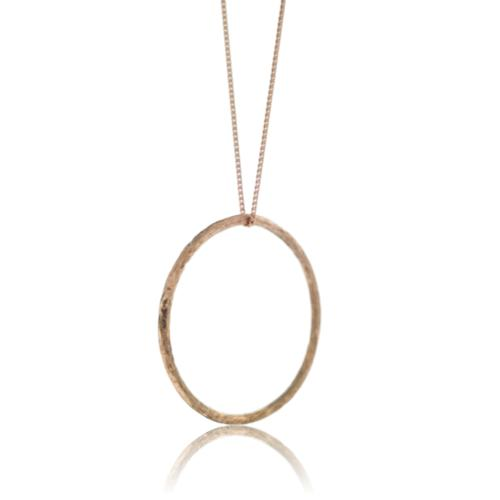 Driftwood Circle Pendant - Rose Gold Plated