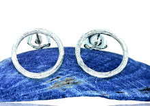 Load image into Gallery viewer, Driftwood Circle Stud Earrings - 9 Karat White Gold