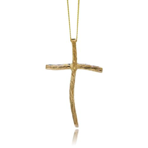 Driftwood Cross - Yellow Gold Plated