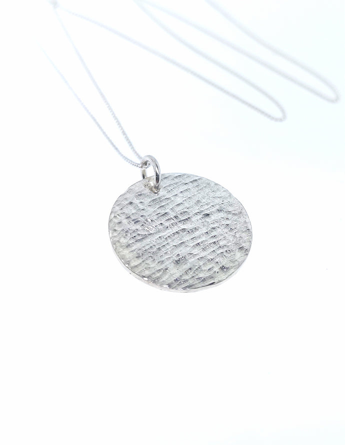 Ripple Disc Pendant - Sterling Silver