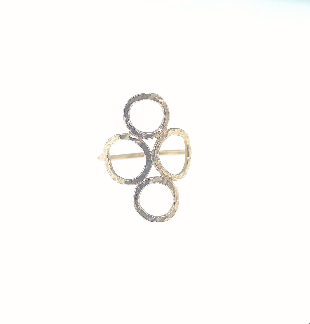 4 Circle Ring - Yellow Gold Plated