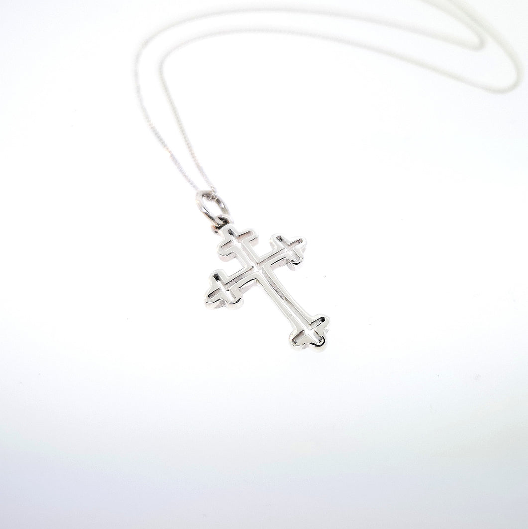 Celtic Cross Pendant - Sterling Silver