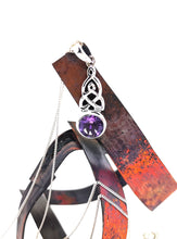 Load image into Gallery viewer, Celtic Weave Pendant -Sterling Silver With Amethyst