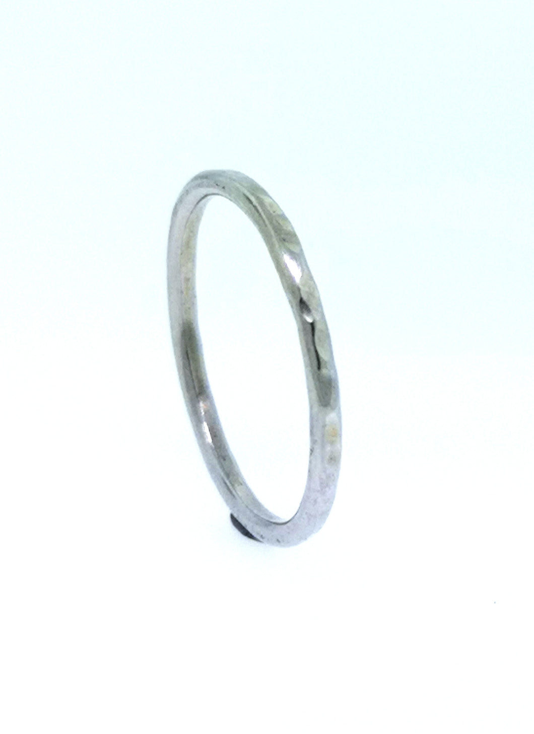 Circle Stacking Ring - 9 Karat White Gold
