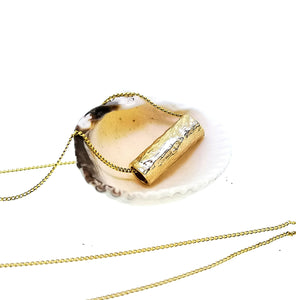 Driftwood Log Pendant - Yellow Gold Plated