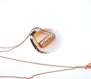 Driftwood Log Pendant - Rose Gold Plated