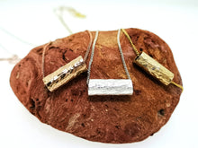 Load image into Gallery viewer, Driftwood Log Pendant - Yellow Gold Plated